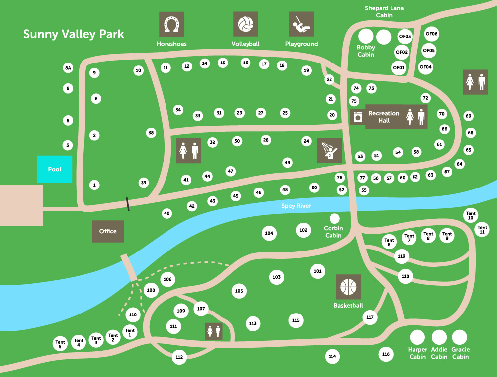 Sunny Valley Park Map